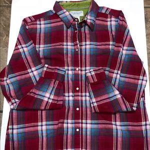 Wrangler blues Plaid Button Shirt Sz